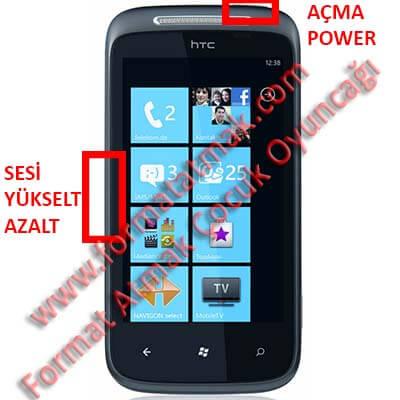 HTC Amaze 4G Format Atma