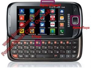 Samsung Galaxy 551 i5510 Format Atma