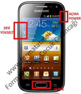 Samsung Galaxy Ace 2 Format Atma