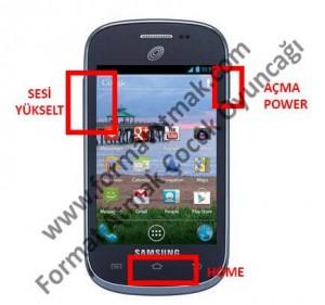 Samsung Galaxy Discover S730G Format Atma
