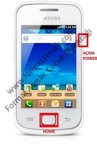 Samsung Galaxy Gio Format Atma
