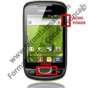 Samsung Galaxy Mini Pop Plus S5570i Format Atma
