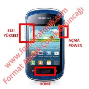 Samsung Galaxy Music S6012 Format Atma
