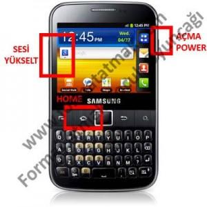 Samsung Galaxy Y Pro B5510 Format Atma