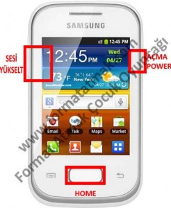 Samsung Galaxy Pocket 2 Format Atma