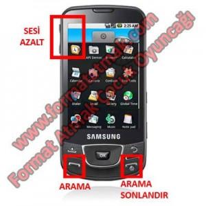Samsung Galaxy i7500 Format Atma