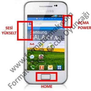 Samsung Galaxy Ace Format Atma