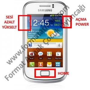 Samsung Galaxy Mini 2 Format Atma