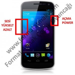 Samsung Galaxy Nexus Format Atma