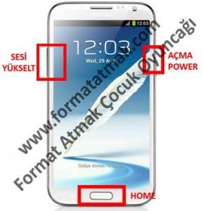 Samsung Galaxy Note 2 Format Atma
