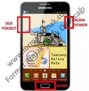 Samsung Galaxy Note Format Atma