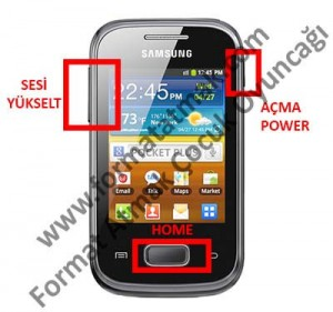 Samsung Galaxy Pocket Plus S5303 Format Atma