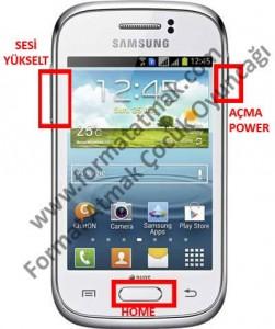 Samsung Galaxy Young Duos Format Atma