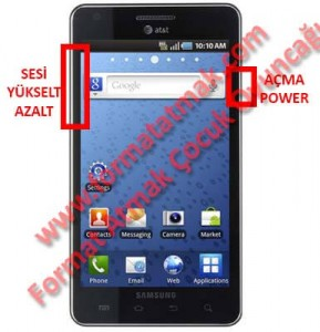 Samsung Infuse 4G Format Atma