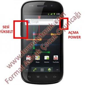 Samsung Google Nexus S Format Atma