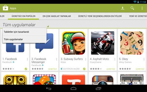 Google Playden Uygulama