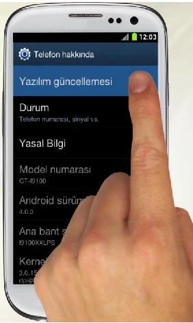 Samsung Galaxy Android Telefonlarda Güncelleme