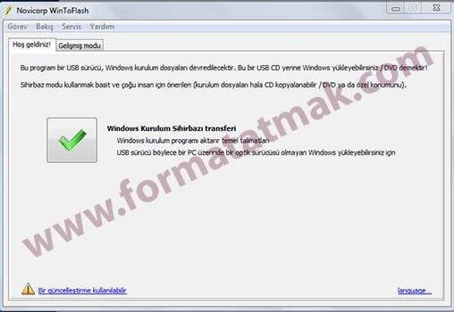 USBden Windows 7 Kurulumu