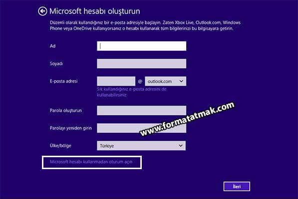 Windows 8.1 format atma