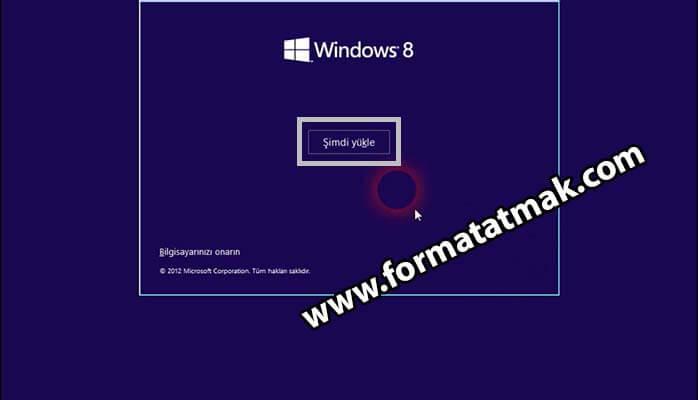 USBden Windows 8 Kurulumu
