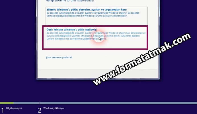 USBden Windows 8.1 Kurulumu
