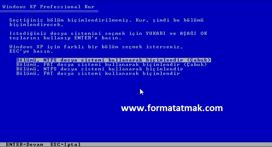 Windows XP Format Atma