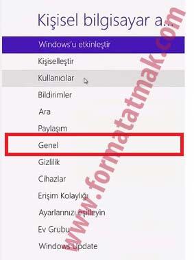 Windows 8 Recovery Format Atma Sıfırlama