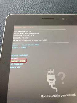 ASUS Fonepad ME371MG Format Atma
