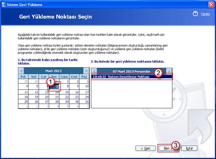 Windows XP Sistem Geri Yükleme