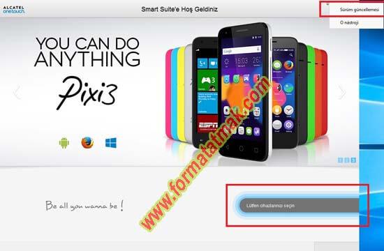 Alcatel Telefonlarda Güncelleme
