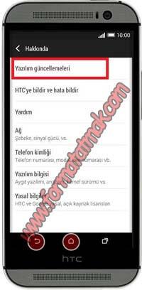 HTC Telefonlarda Güncelleme
