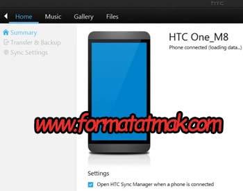 HTC Telefonlarda Yedekleme İşlemi