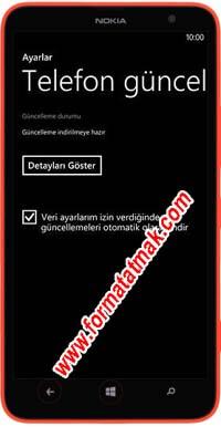 Nokia Lumia Telefonlarda Güncelleme