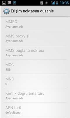 Turkcell internet ayarları