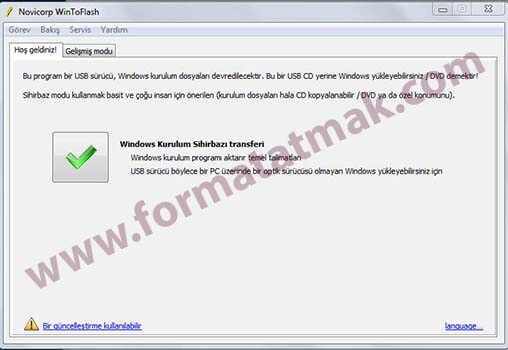 USBden Windows 8 Kurulumu