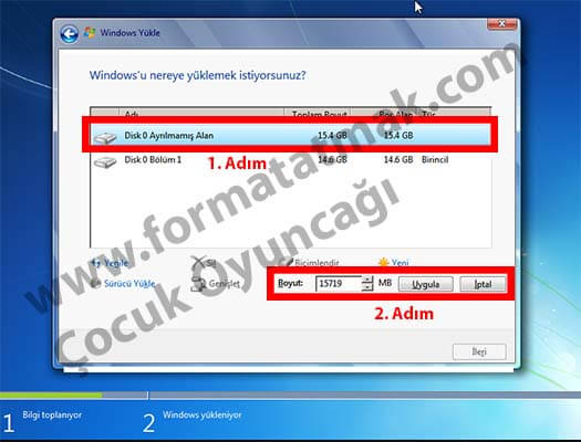 Windows 7 format atma