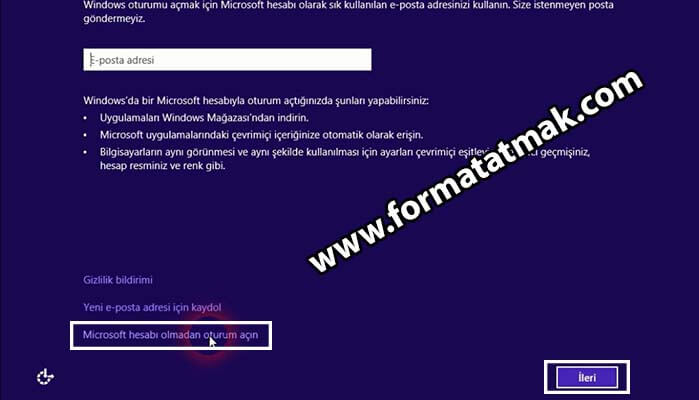Windows 8 format atma