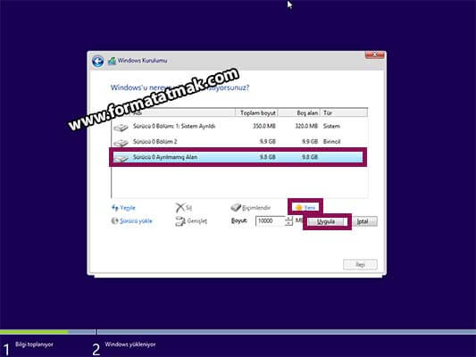 Windows 10 Format Atma