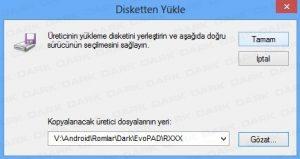Dark Evopad R Serisi Yazılım Yükleme