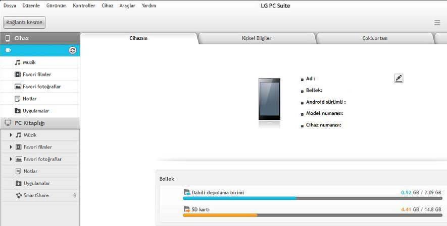 LG Telefonlarda Yedekleme İşlemi