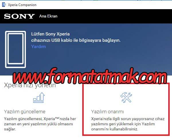 Sony Xperia XZ Premium Format Atma