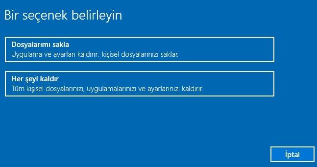 Lenovo Windows 10 Tabletlerde Recovery Kurtarma İşlemi